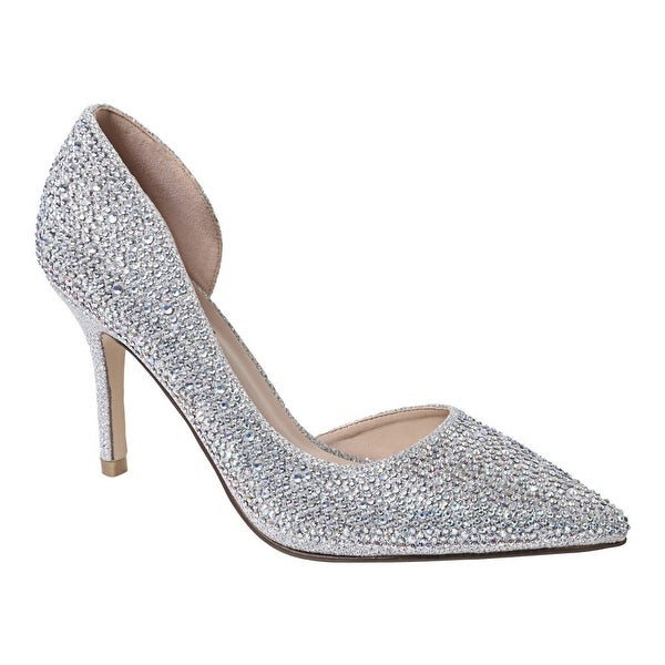 a7af540b7 Shop Sweetie's Shoes Silver Closed Toe Special Occasion Marissa Pumps  5.5-11 Womens - Free Shipping Today - Overstock - 25599936