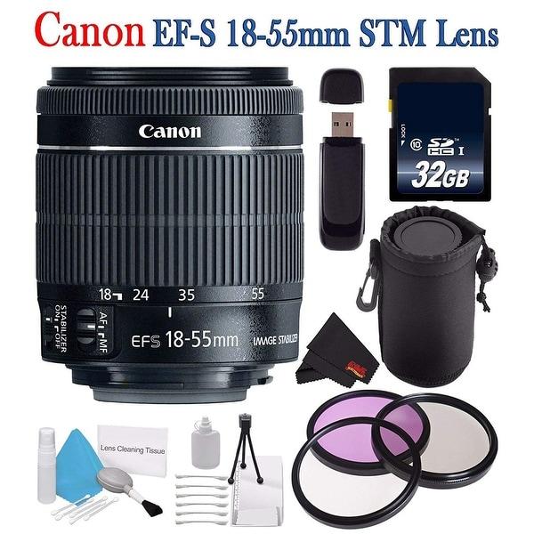 6aba54e834b5b Shop Canon EF-S 18-55mm f 3.5-5.6 IS STM Lens 8114B002 + 58mm 3 ...