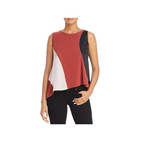 Kenneth Cole Womens Top Cold Shoulder Swing