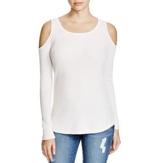 Splendid Womens Pullover Top Cotton Blend Open Shoulders