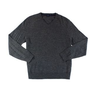 Club Room NEW Gray Heather Mens Size 2XL V-Neck Pullover Knit Sweater