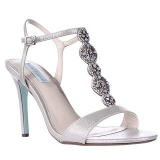 Blue by Betsey Johnson Chloe Dress Heels Sandals - Silver