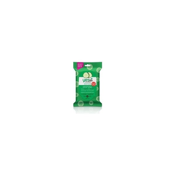 Yes To 3371028 Yes To Cucumbers Hypoallergenic Facial Wipes 10 ct - Travel Size - Facial Wipes - Clean Skin - Hypoallergenic -