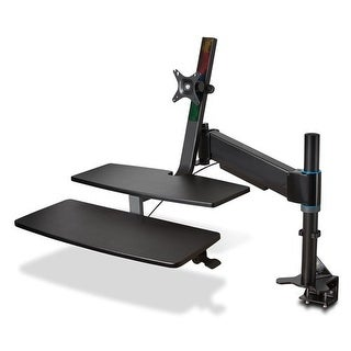 Kensington Sit-Stand Workstation with SmartFit Sit-Stand Workstation with SmartFit, 48 x 34 x 44 3/4, Black