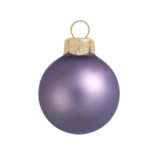 "Matte Lilac Purple Glass Ball Christmas Ornament 7"" (180mm)"