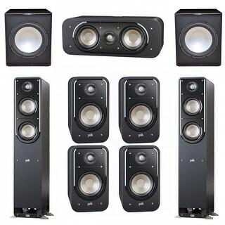 Polk Audio Signature 7.2 System with 2 S50 Speakers, 1 Polk S30, 4 Polk S20 Speakers, 2 Premier Acoustic PA-150Sub
