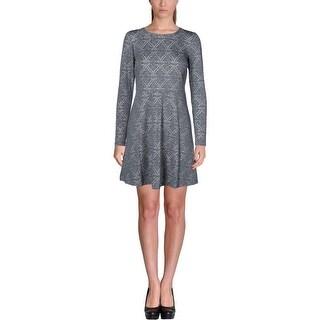 Kensie Womens Casual Dress Ponte Pattern