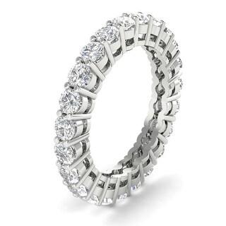 2.00 ctw Prong-Set Round Cut Diamond Eternity Wedding Band 14kt Gold