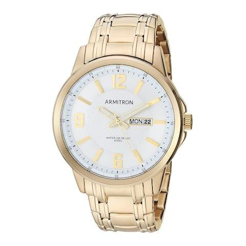 Armitron Men's 42mm Day/Date Function Gold-Tone Bracelet Watch