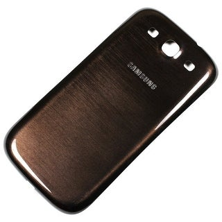 OEM Samsung Galaxy S3 Battery Door - Verizon Logo - Brown