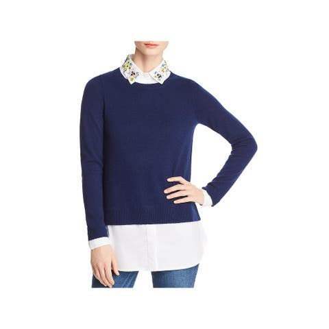 Private Label Womens Sweater Embellished Layered - Navy