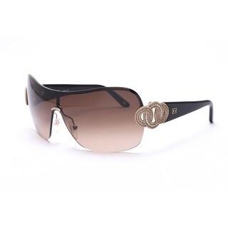 Escada Women's Shield Sunglasses Black Gold - Small