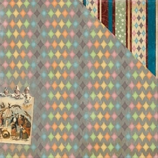 """Scrapberry's Vintage Circus Double-Sided Cardstock 12""""X12""""-Fireworks"""
