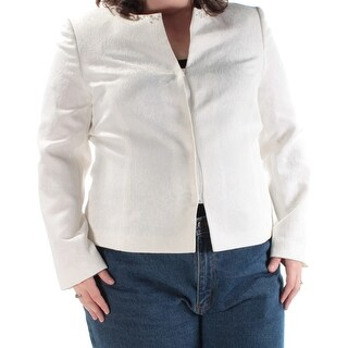 TAHARI $99 Womens New 1348 White Floral Beaded Rhinestone Jacket 18 B+B
