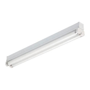 Commercial fluorescent strip lighting