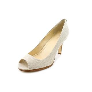 Calvin Klein Kail Open-Toe Canvas Heels