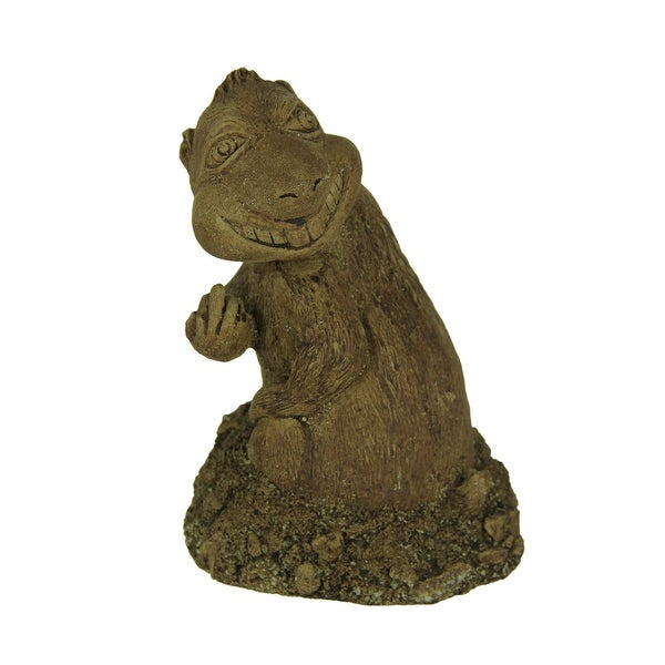 Digger the Digging Gopher Bird Finger Yard or Garden Statue - 8.5 X 5.75 X 5.75 inches
