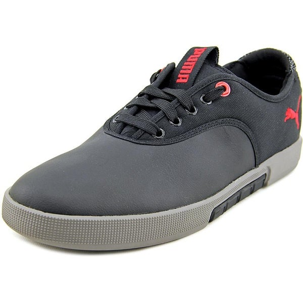Puma Funist Lo LM Men Round Toe Leather Black Sneakers