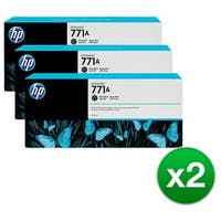HP 771A 3-Cartridges 775-ml Matte Black DesignJet Ink Cartridges (B6Y39A) (2-Pack)