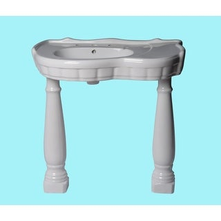 Laundry Pedestal Sink Southern Belle White China Roman Wall Mount
