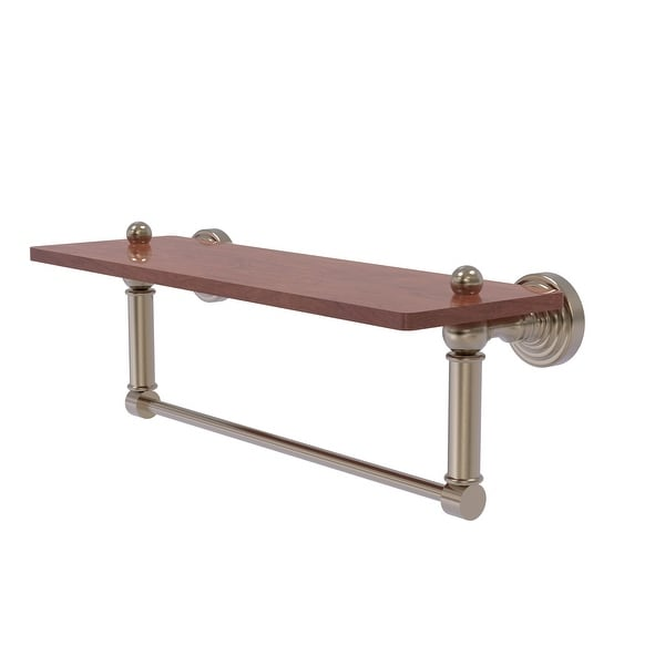 Allied Brass Waverly Place Collection hardwood Shelf with Integrated Towel Bar