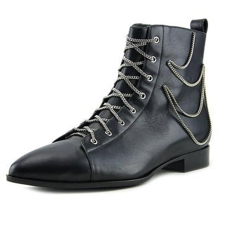 Giuseppe Zanotti Ketten Women Pointed Toe Leather Black Ankle Boot