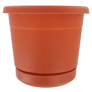 Ames 10in. Terracotta Rolled Rim Planters RR1012TC - Pack of 12