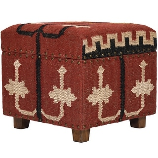 Link to Handmade Kilim Upholstered Storage Footstool (Stool) Similar Items in Ottomans & Storage Ottomans