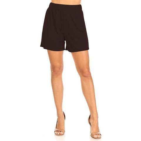 MOA COLLECTION Women's Casual Comfy Elastic High Waist Loose Fit Basic Solid Pants Shorts
