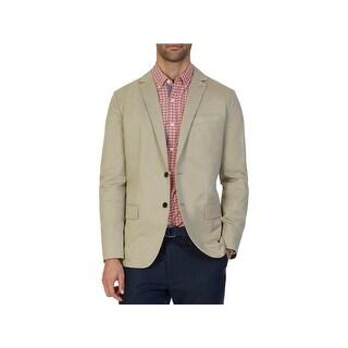 Nautica Mens Two-Button Blazer Twill Single Vent