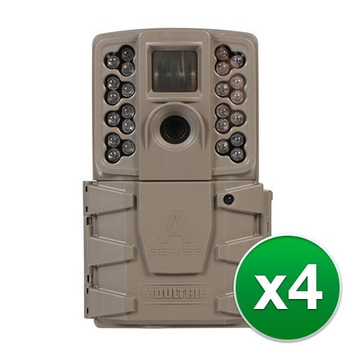 Moultrie MCG-13201 A30 Game Camera with 720p HD Video & LCD Screen - (4-Pack)