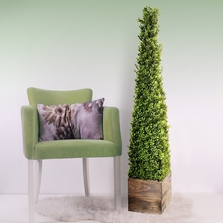 """Link to Plastic Spring Boxwood Obelisk In Wood 48"""" Similar Items in Decorative Accessories"""
