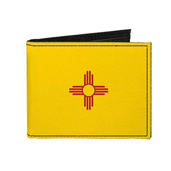 Buckle-Down Canvas Bi-fold Wallet - New Mexico Flag Accessory