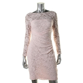 Lauren Ralph Lauren Womens Petites Lace Sequined Cocktail Dress - 16p