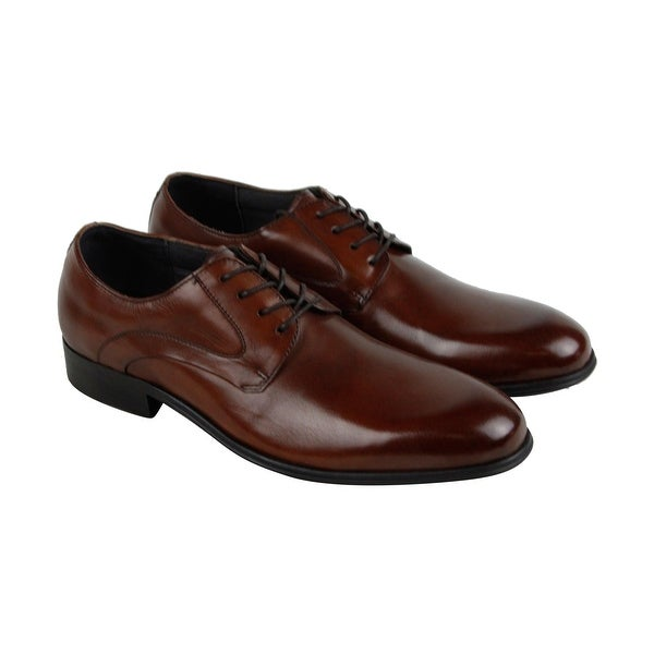 Kenneth Cole New York Design 10281 Mens Brown Leather Casual Dress Oxfords Shoes