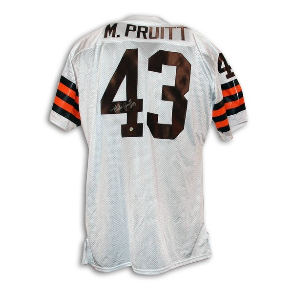 quality design dc8aa 3bf89 Mike Pruitt Cleveland Browns Autographed Throwback Jersey