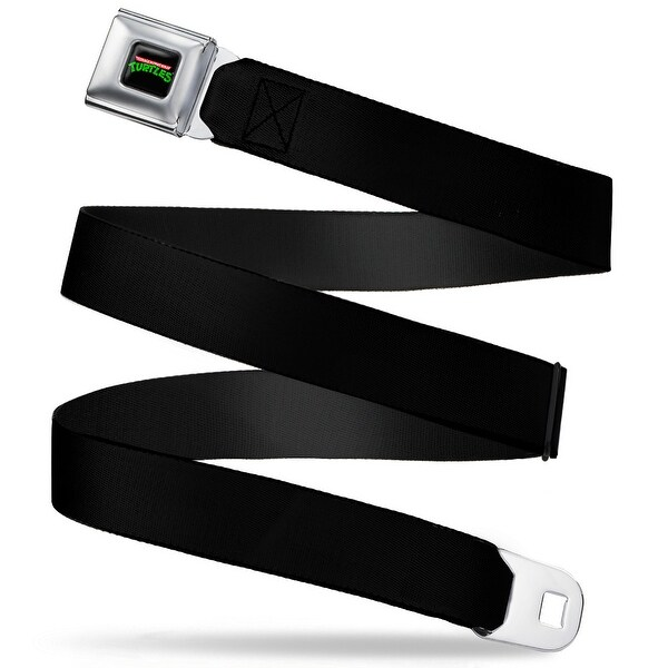 Classic Tmnt Logo Full Color Black Webbing Seatbelt Belt Fashion Belt