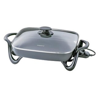 "Presto 06852 Electric Skillet With Glass Cover, 16"", 120 V, 1500 Watts"