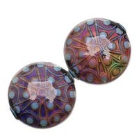 Mirage Color Changing Mood Beads - Stargazer - 21.5mm Diameter Round Spacers (2)