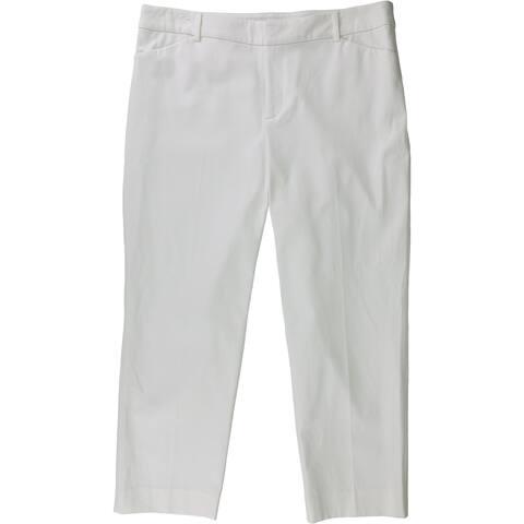 Charter Club Womens Straight Leg Casual Trousers