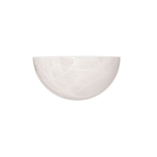 "Millennium Lighting 521 5"" Tall Single Light ADA Compliant Wall Washer Sconce with Half Disk Faux Alabaster Shade - White"