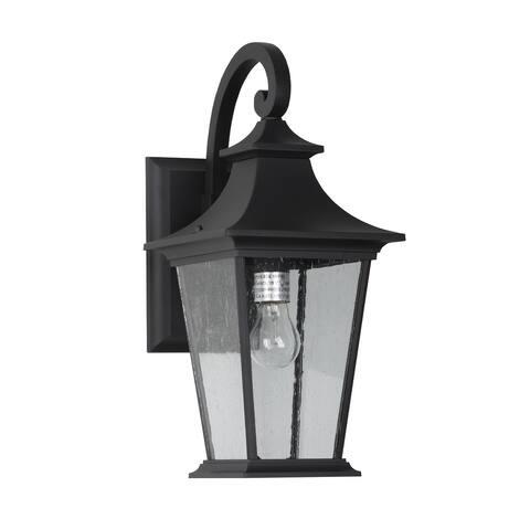 1 Light Outdoor Wall Light - Black Finish