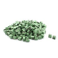 Unique Bargains 200 pcs 2 Poles PCB Screw Terminal Block Connector DG126 Green