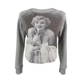 Marilyn Monroe Juniors' Long Sleeves Sweatshirt