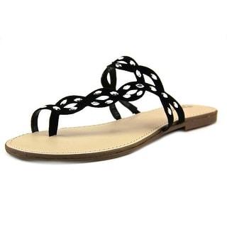 Carlos by Carlos Santana Selena Women Open Toe Synthetic Black Thong Sandal