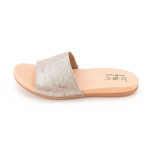 B.O.C Womens MIKKI Leather Open Toe Casual Slide Sandals