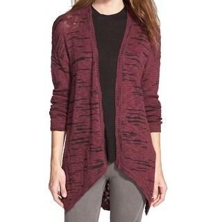 Sun & Shadow NEW Red Black Women's Size Medium M Cardigan Sweater