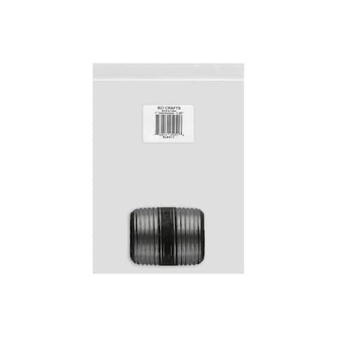 Blk01-1 bci crafts galvanized pipe 1x1 25 black