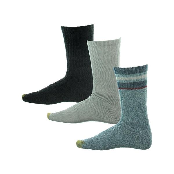 Gold Toe Mens Crew Socks 4PK Heathered - 10-13
