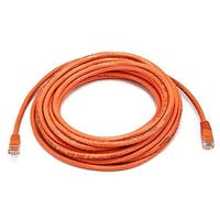 Cat6 Ethernet Patch Cable Network RJ45 Stranded UTP Crossover 24AWG 25ft Orange